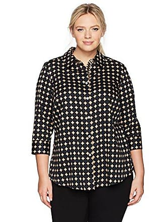 Foxcroft Womens 3/4 Sleeve Ava Optic Dot Wrinkle Free Shirt, 16