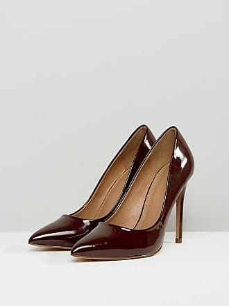 cdacb280314 Asos Wide Fit Paris pointed high heeled court shoes in espresso - Brown