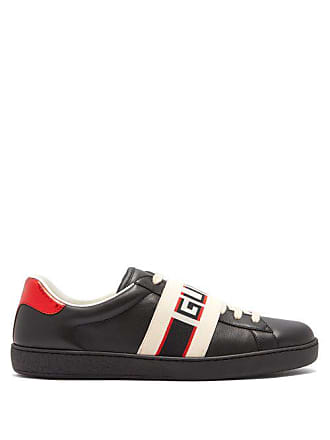73a33ec8d04 Gucci New Ace Low Top Leather Trainers - Mens - Black Multi