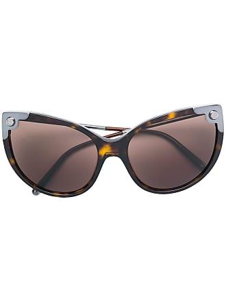 Dolce & Gabbana Eyewear Óculos de sol tartaruga - Marrom