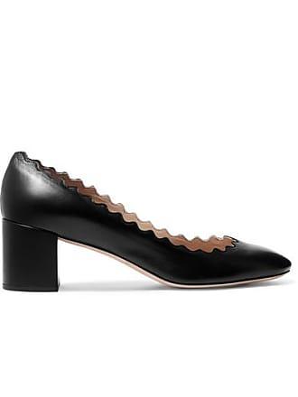90404ec87 Chloé Lauren Scalloped Leather Pumps - Black