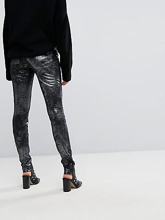 8d972a4da8c Noppies Maternity Metallic Jegging With Biker Details - Silver