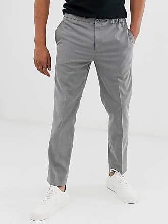Burton Menswear slim drawstring trousers in grey
