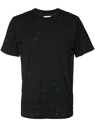 TAKAHIROMIYASHITA TheSoloist. Camiseta com detalhes puídos - Preto