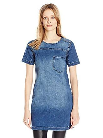 Calvin Klein Jeans Womens Denim T-Shirt with Stud Accents, Trix, Medium