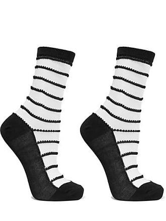 b79ed68f1fd Wolford Isabella Set Of Two Striped Cotton-blend Socks - Black