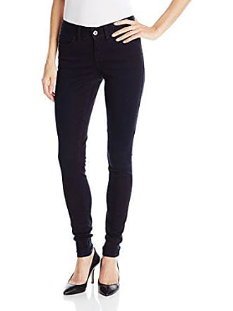 Yummie Tummie Womens Modern Mid Rise Slimming Super Skinny Jeans, Nightfall, 30
