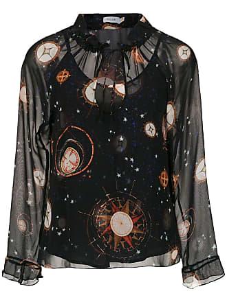 Isolda Blusa Alva de seda estampada - Intergalactico