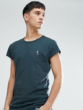 Religion TALL Crew Neck T-Shirt With Cap Sleeve-Black
