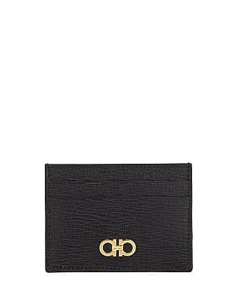 4bd822ce8b3 Salvatore Ferragamo Mens Revival Gancio Textured Leather Card Case