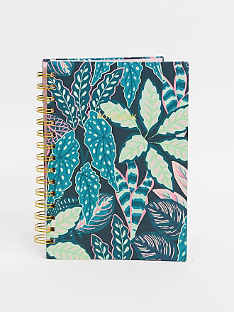 Sass & Belle notebook in leaf print-Multi