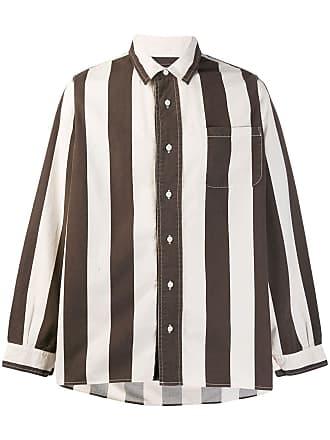 Visvim Camisa listrada - Marrom