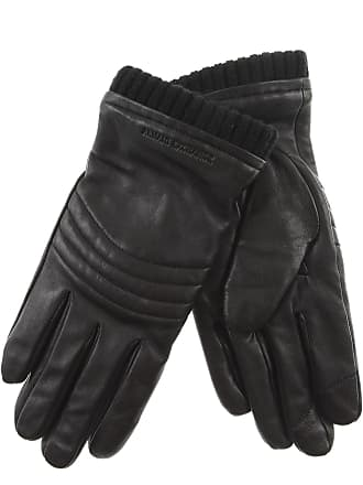 Emporio Armani Gloves for Men On Sale in Outlet, Black, Leather, 2017, L-XL