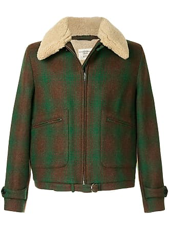 Kent & Curwen furry collar coat - Green