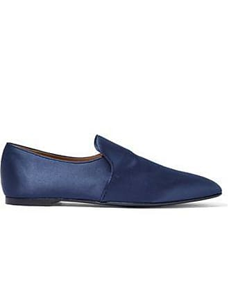 6b9a7c3fcb8 The Row The Row Woman Alys Satin Loafers Navy Size 38.5