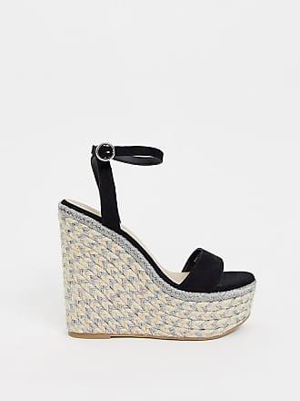 30589a55ea5d3 Asos Justina - Chaussures compensées style espadrilles - Noir