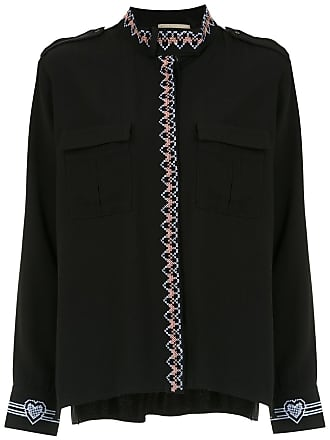 Andrea Bogosian Camisa com bordado - Preto