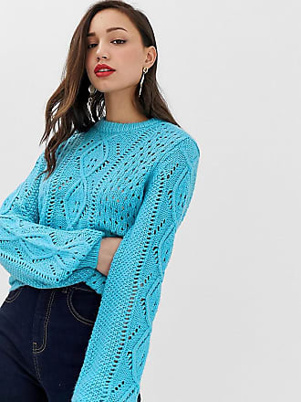 Y.A.S. Tall Chunky Cable Knitted Sweater - Blue