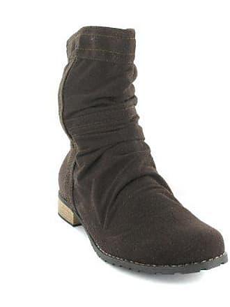 80b28866445ee4 Andres Machado Damen Stiefel - Braun Schuhe in Übergrößen