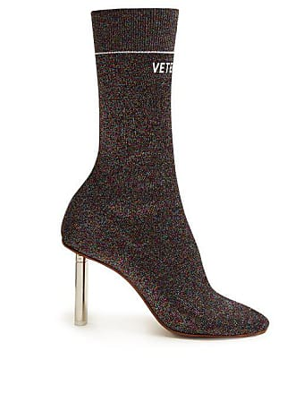 VETEMENTS Lighter Heel Sock Ankle Boots - Womens - Multi 5470511c3