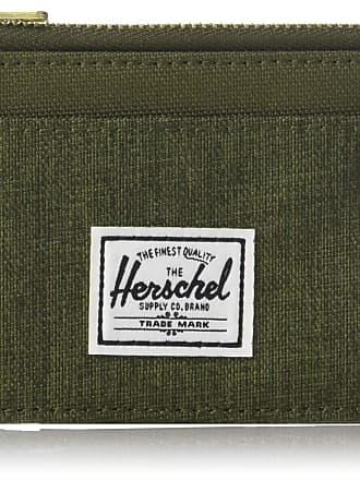 Herschel Herschel Mens Oscar RFID Card Case Wallet, Olive Night Crosshatch/Olive Night, One Size