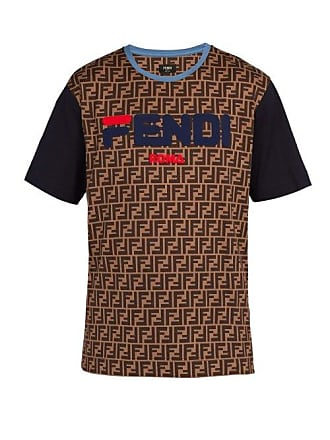 839a9386 Fendi Mania Logo Print Cotton Jersey T Shirt - Mens - Brown Multi