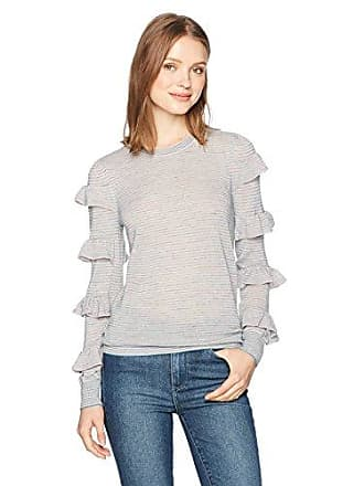 Rebecca Taylor Womens Delicate Ruffle Pullover, Soft Pink Combo, S