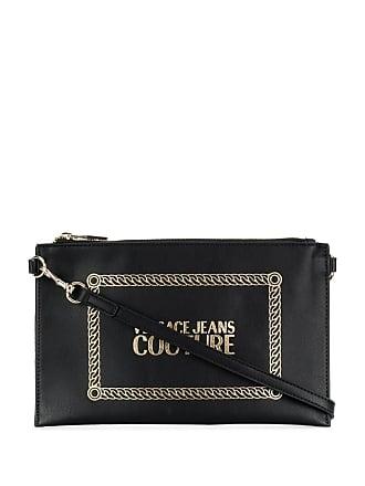 Versace Jeans Couture logo print clutch bag - Preto