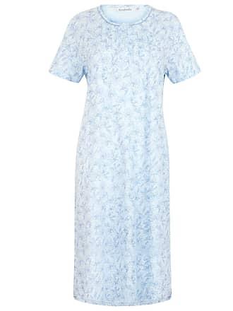 Slenderella Ladies Floral Meadow Jersey Cotton Nightdress Short Sleeved  Nightie UK 16 18 (Blue 9362b6240