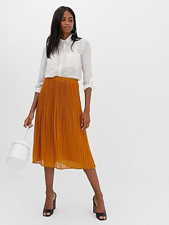 Y.A.S pleated midi skirt - Brown