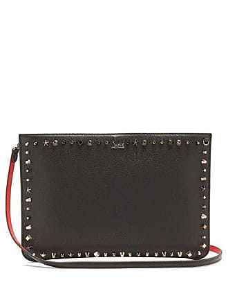 Christian Louboutin Loubi Stud Embellished Leather Clutch - Womens - Black Multi