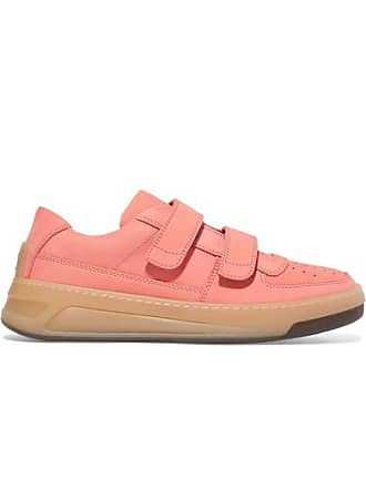 Acne Studios Steffey Logo-embossed Nubuck Sneakers - Antique rose