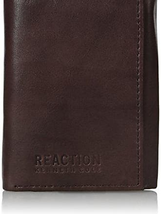Kenneth Cole Reaction Kenneth Cole Reaction Mens Wallet - RFID Blocking Security Genuine Leather Slim Trifold with ID Window and Card Slots,Brown