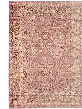 Safavieh WDS341B-5 Windsor Collection Abstract Area Rug, 5 x 7, Pink/Orange