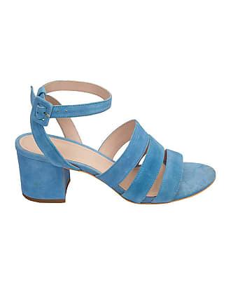 Framed Sandália Stripes de couro - Azul