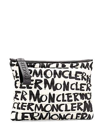 Moncler Clutch com estampa - Branco