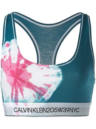 Calvin Klein Top esportivo tie dye - Azul