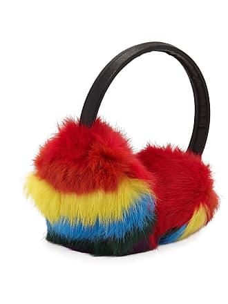 Bari Lynn Girls Multicolored Fur Earmuffs