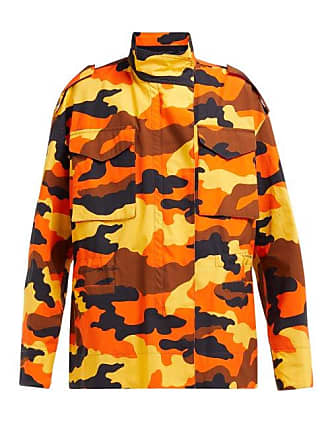 170af0198da9e Off-white Off-white - Camouflage Print Cotton Cargo Jacket - Womens - Brown