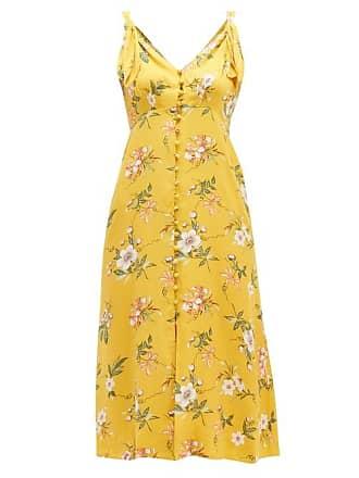 2a286eb38 Rebecca Taylor Lita Floral Print Silk Blend Dress - Womens - Yellow Multi