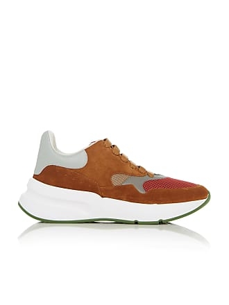 Alexander McQueen Suede Mesh and Leather Sneakers