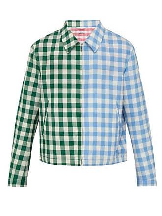 Thom Browne Gingham Wool Blend Jacket - Mens - Green