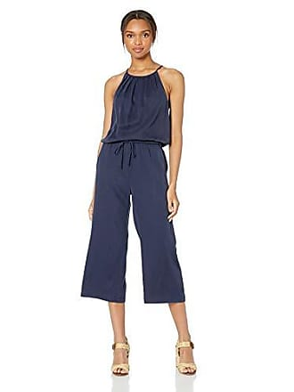 Daily Ritual Womens Tencel Halter Jumpsuit, Navy, 16