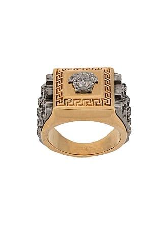 Versace Anel com contraste - Dourado