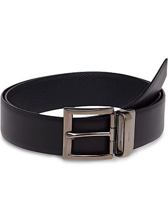 ac6464928e Prada Saffiano Cuir Leather Reversible Belt - Marrom