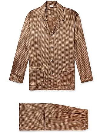 Zimmerli Printed Silk-satin Pyjama Set - Gold