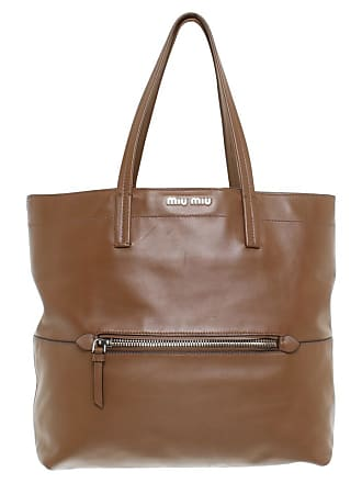 2708974525556 Miu Miu gebraucht - Tote Bag in Braun - Damen - Leder