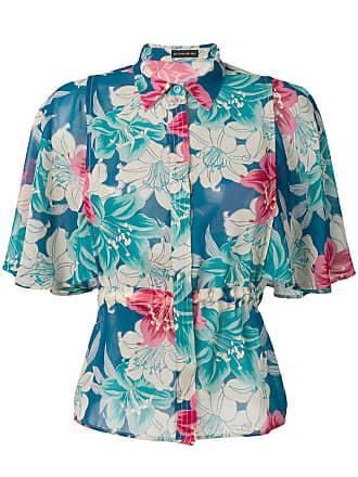 Etro floral print flutter shirt - Blue