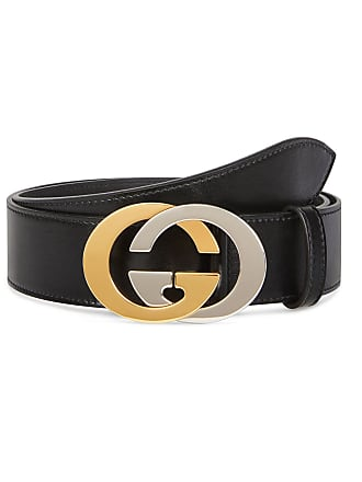 c2dee196b409 Gucci Mens Two-Tone GG Leather Belt
