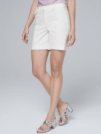 White House Black Market Womens 7-Inch Smooth Stretch Shorts by White House Black Market, White, Size 16